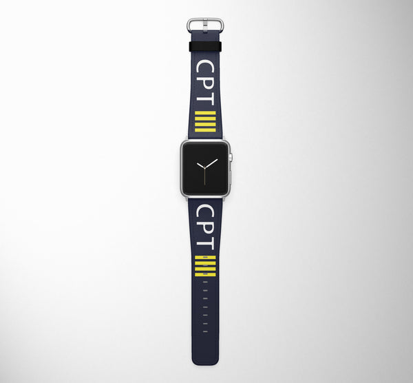 CPT 4 Lines Designed Leather Apple Watch Straps