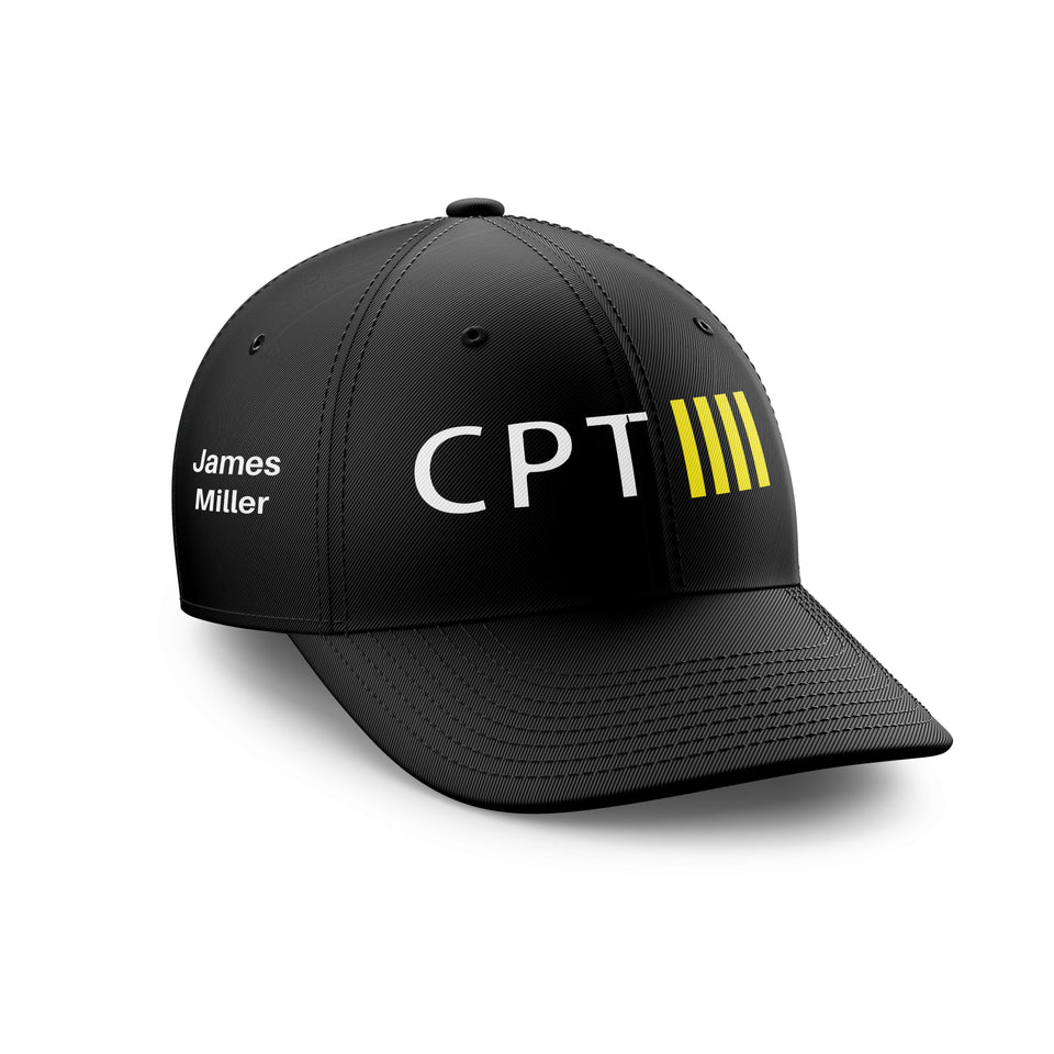 Customizable Name & CPT + 4 Lines Embroidered Hats