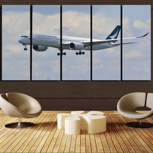 Cathay Pacific Airbus A350 Printed Canvas Prints (5 Pieces) Aviation Shop