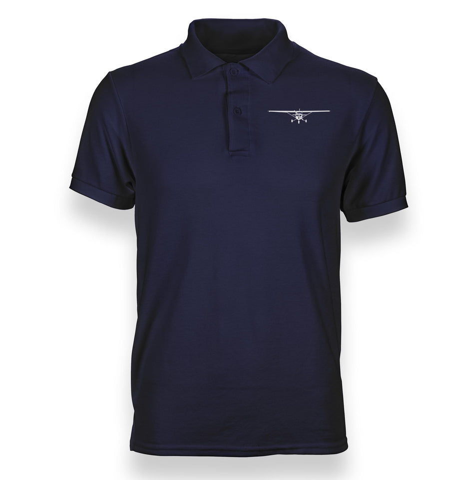 Cessna 172 Silhouette Designed Polo T-Shirts