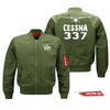 Cessna 337 Skymaster Silhouette & Designed Pilot Jackets (Customizable)