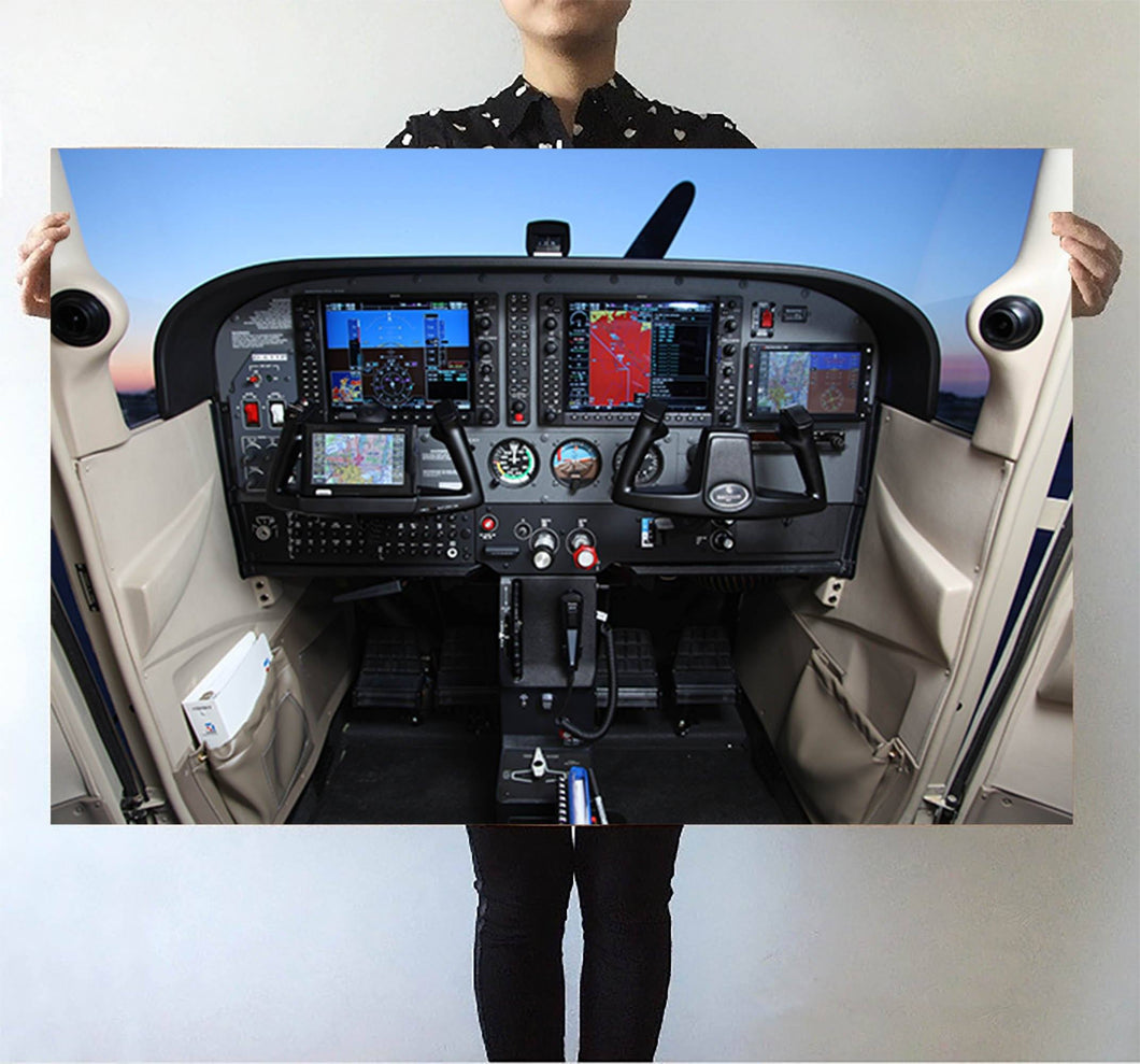 Cessna 172 Cockpit Printed Posters Aviation Shop