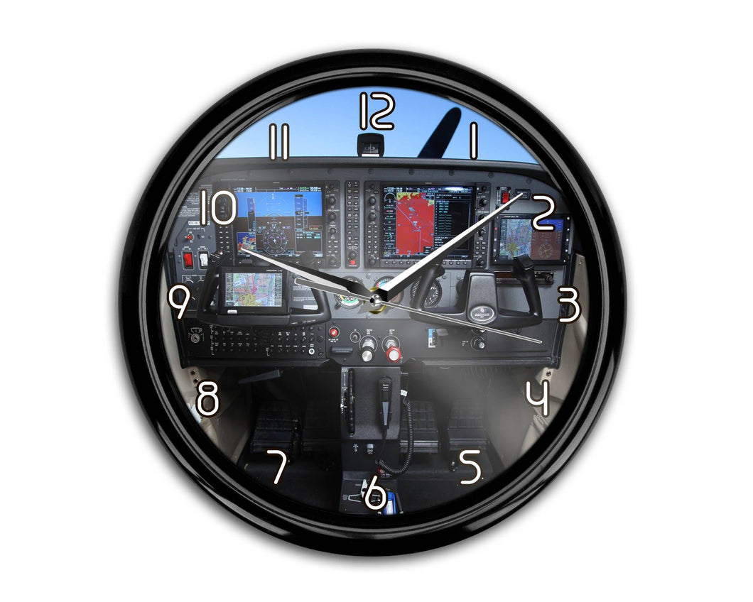 Cessna 172 Cockpit Printed Wall Clocks Aviation Shop