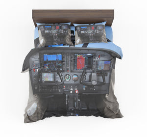 Cessna 172 Cockpit Designed Bedding Sets