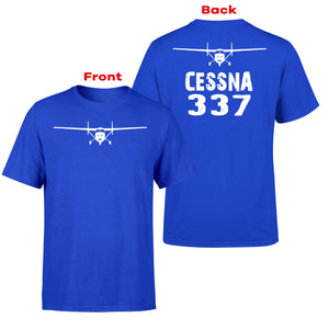 Cessna 337 & Plane Designed Double-Side T-Shirts