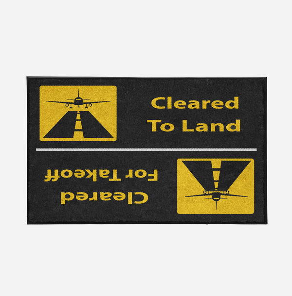 Cleared To Land / For Departure Designed Door Mats Aviation Shop