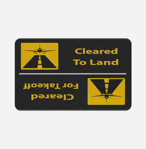 Cleared To Land / For Departure Designed Bath Mats Pilot Eyes Store Floor Mat 50x80cm