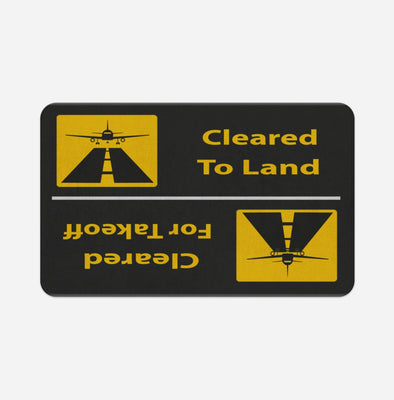 Cleared To Land / For Departure Designed Door & Bath Mats
