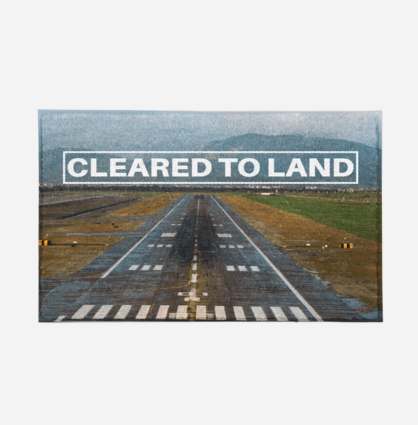 Cleared To Land Runway Designed Door Mats Aviation Shop