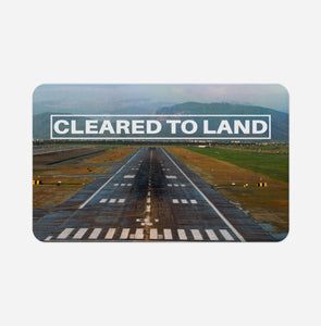 Cleared To Land Runway Designed Bath Mats Pilot Eyes Store Floor Mat 50x80cm