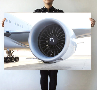 Close Up to Boeing 777 Engine Printed Posters