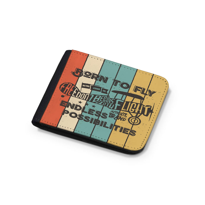 Colourful Born To Fly Designed Wallets