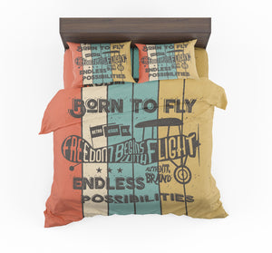 Colourful Born To Fly Designed Bedding Sets