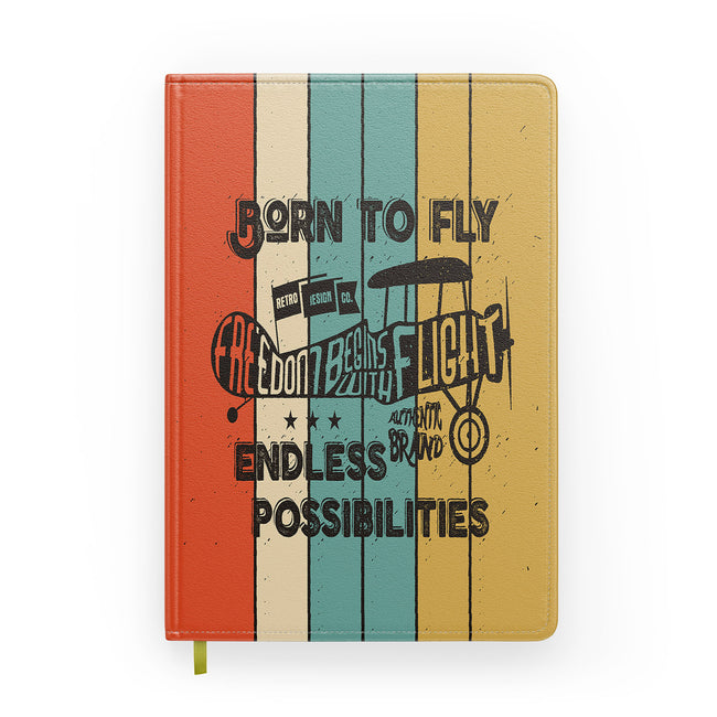 Colourful Born To Fly Designed Notebooks