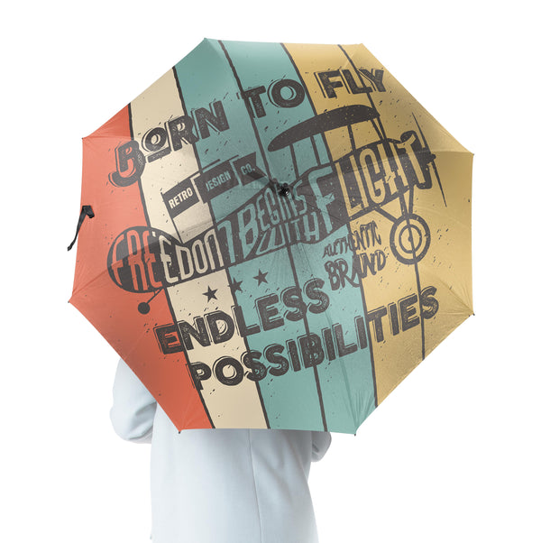 Colourful Born To Fly Designed Umbrella