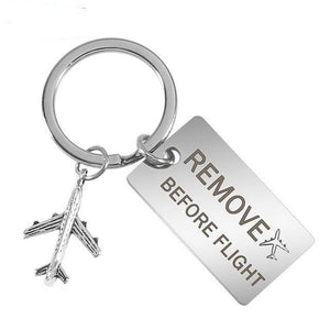 Remove Before Flight Tagged Airplane Key Chain Aviation Shop