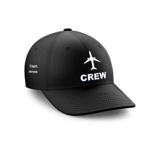 Customizable Name & CREW Embroidered Hats