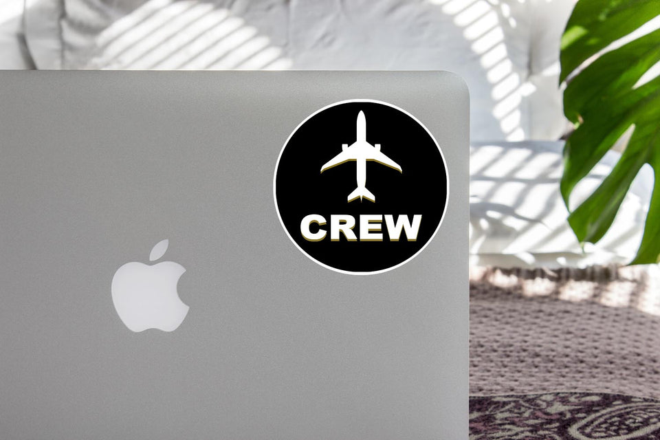 Crew & Circle (Black) Designed Stickers