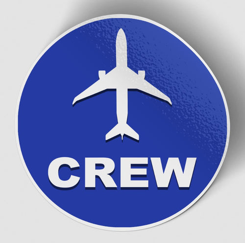 Crew & Circle (Blue) Designed Stickers
