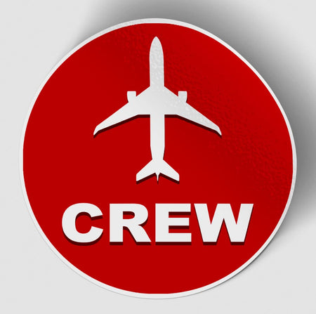 Crew & Circle (Red) Designed Stickers