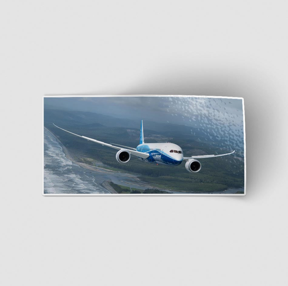 Cruising Boeing 787 Designed Stickers