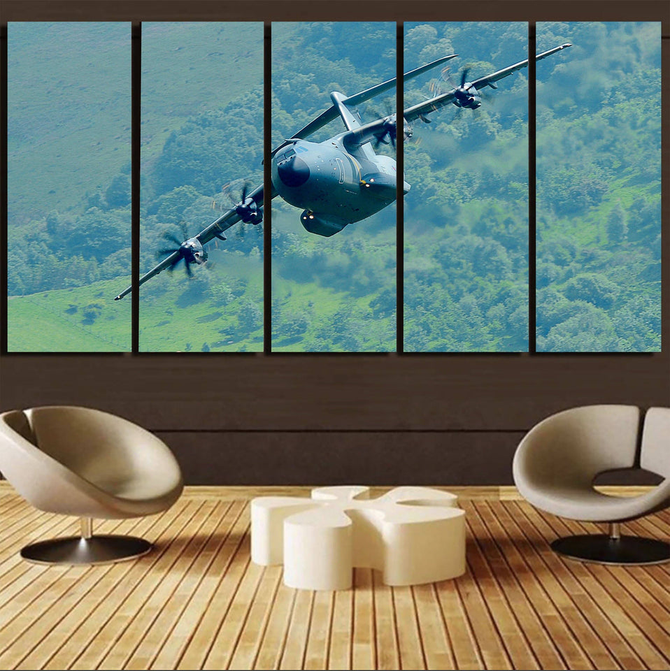Cruising Airbus A400M Printed Canvas Prints (5 Pieces) Aviation Shop