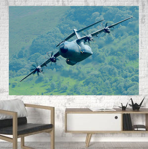 Cruising Airbus A400M Printed Canvas Posters (1 Piece) Aviation Shop