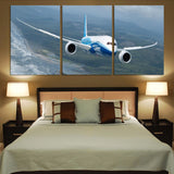 Cruising Boeing 787 Printed Canvas Posters (3 Pieces)
