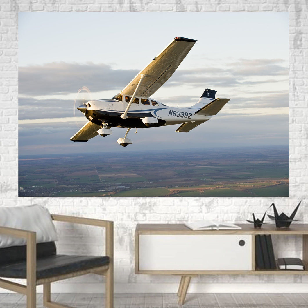 Cruising Cessna Printed Canvas Posters (1 Piece) Aviation Shop