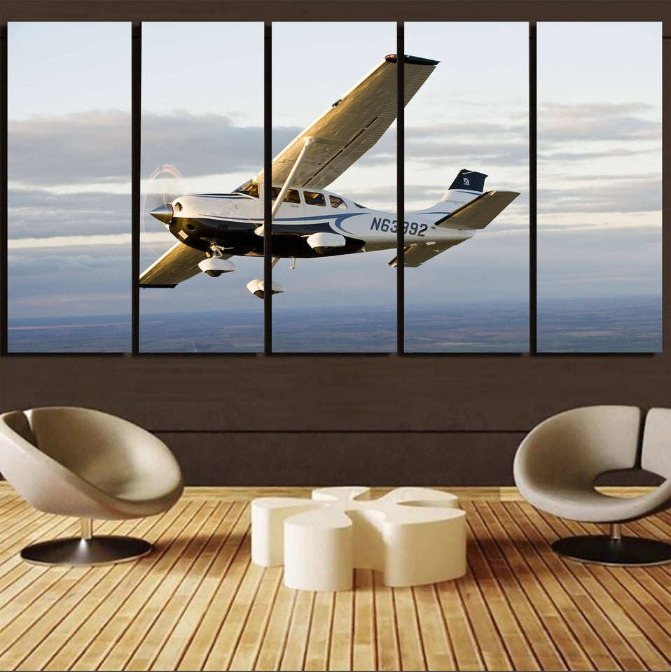 Cruising Cessna Printed Canvas Prints (5 Pieces) Aviation Shop