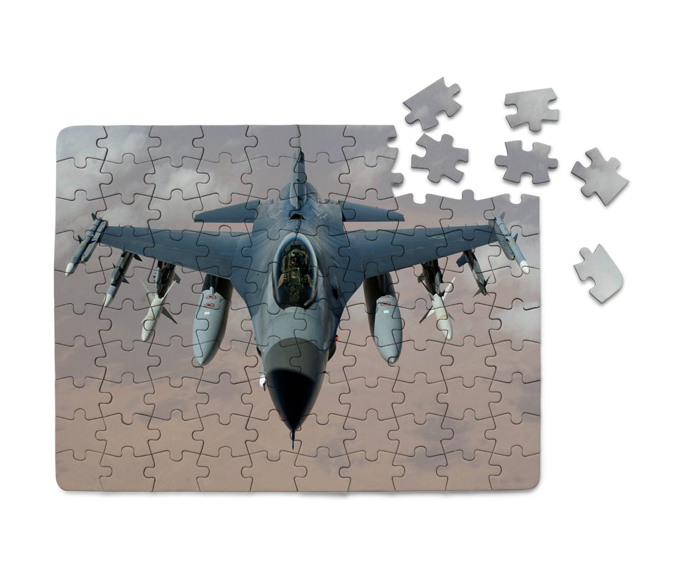 Cruising Fighting Falcon F16 Printed Puzzles Aviation Shop