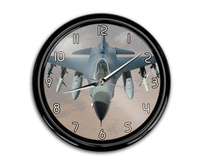 Cruising Fighting Falcon F16 Printed Wall Clocks Aviation Shop