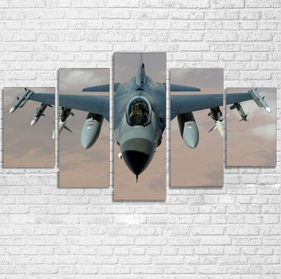 Cruising Fighting Falcon F16 Printed Multiple Canvas Poster