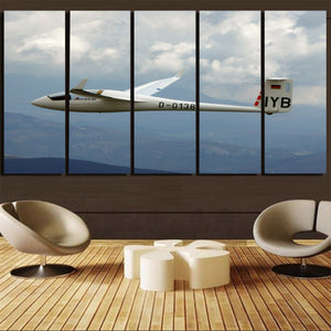 Cruising Glider Printed Canvas Prints (5 Pieces) Aviation Shop
