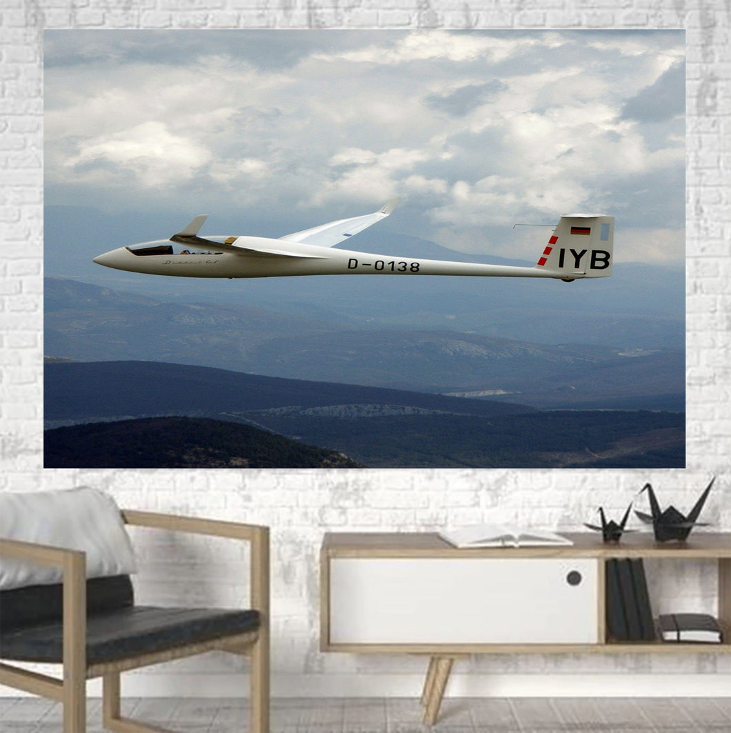 Cruising Glider Printed Canvas Posters (1 Piece) Aviation Shop