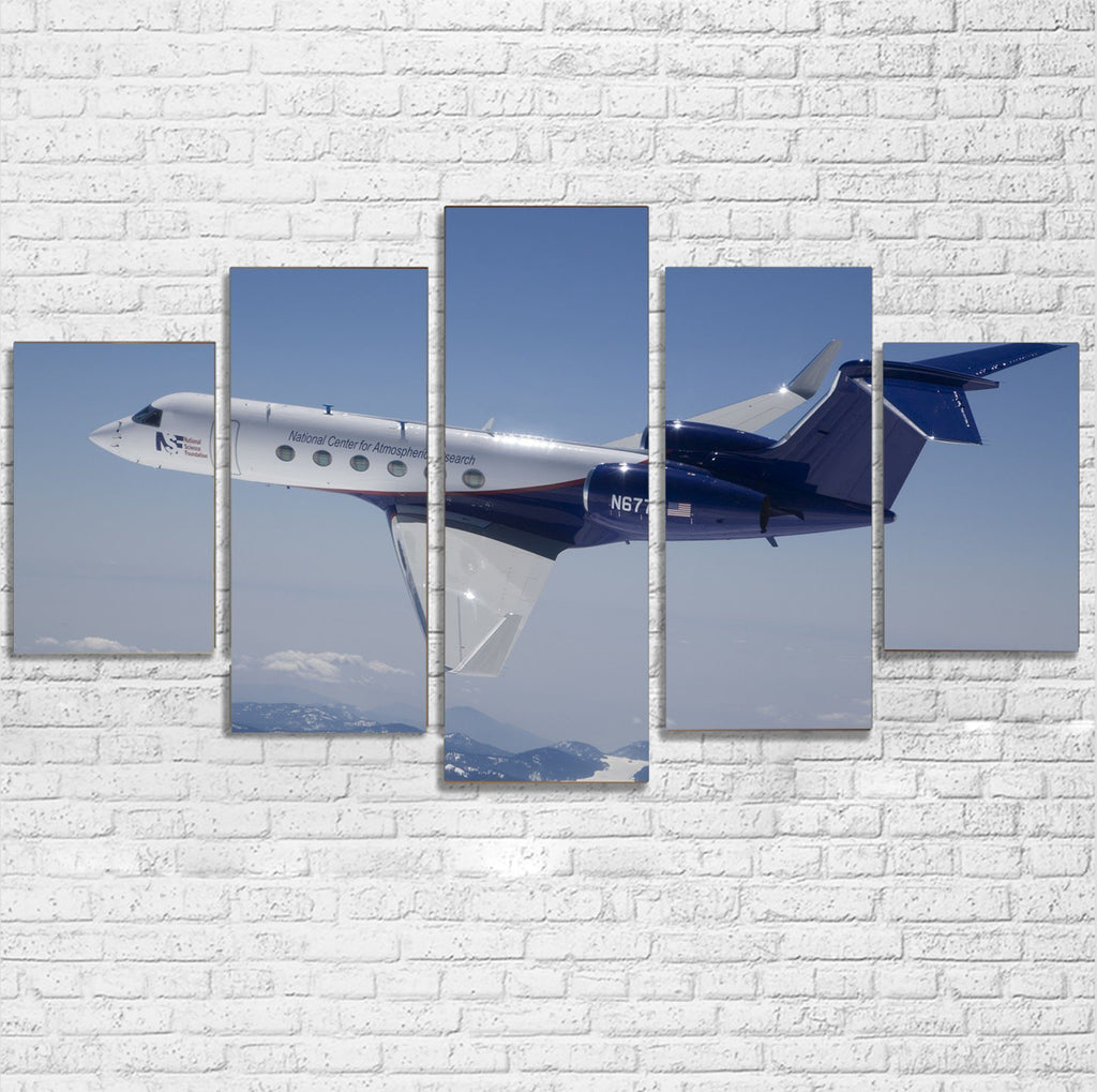 Cruising Gulfstream Jet Printed Multiple Canvas Poster