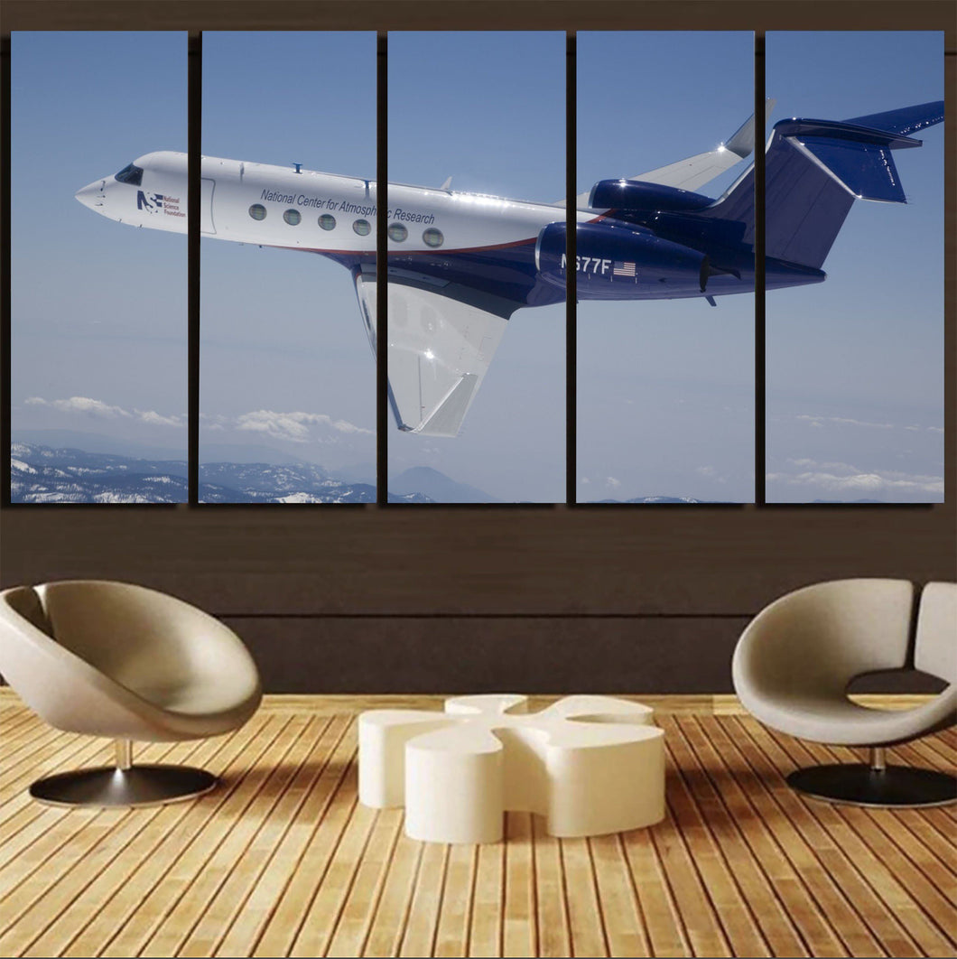 Cruising Gulfstream Jet Printed Canvas Prints (5 Pieces) Aviation Shop