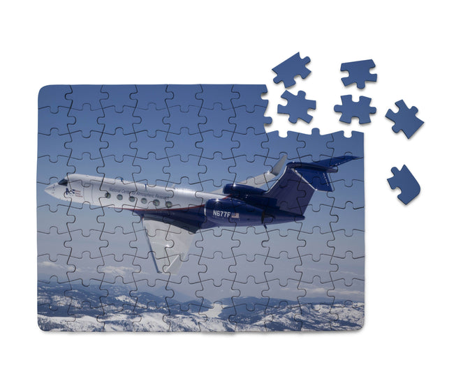 Cruising Gulfstream Jet Printed Puzzles Aviation Shop