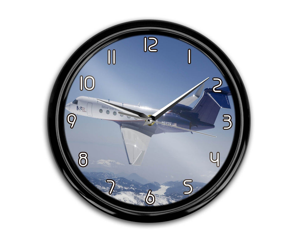 Cruising Gulfstream Jet Printed Wall Clocks Aviation Shop