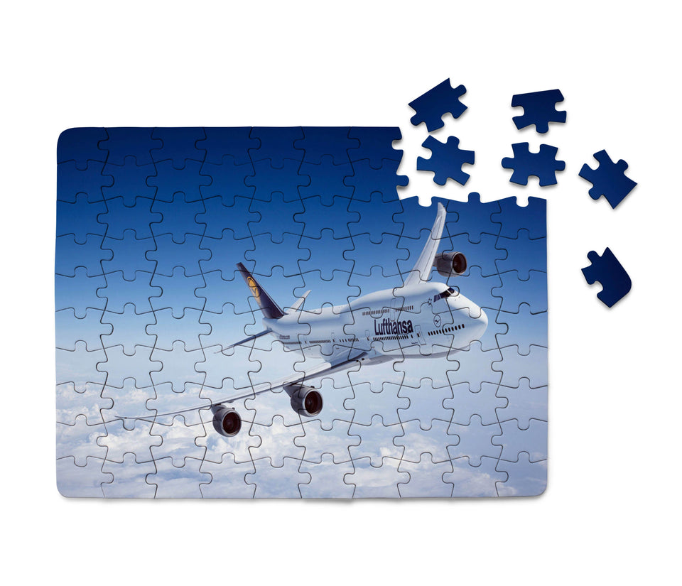 Cruising Lufthansa's Boeing 747 Printed Puzzles Aviation Shop