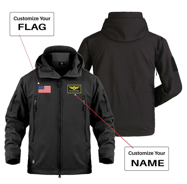 "Custom Flag & Name with ""Special"" Badge Designed Military Jackets"
