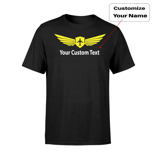 Custom Name (2) & Badge Designed T-Shirts