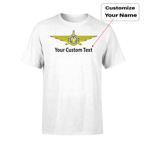 Custom Name (3) & Badge Designed T-Shirts