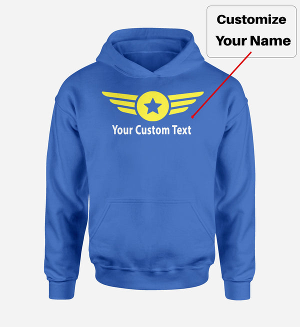 Custom Name & Badge (4) Designed Hoodies