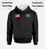 Custom Name & Badge & Flag Designed Hoodies