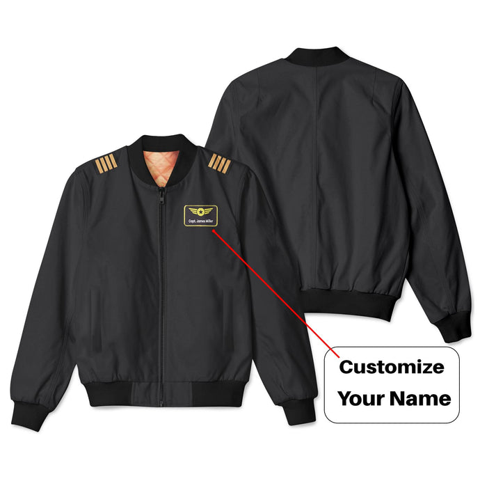 Customizable Name & Badge (5) Designed 3D Pilot Bomber Jackets