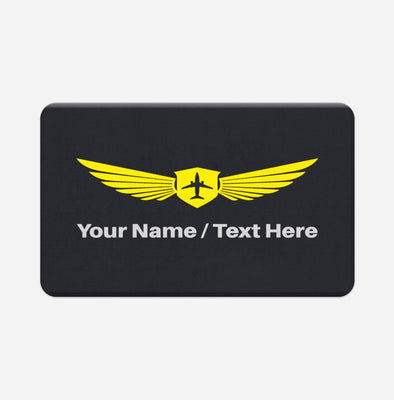 Customizable Name & Badge Designed Door & Bath Mats
