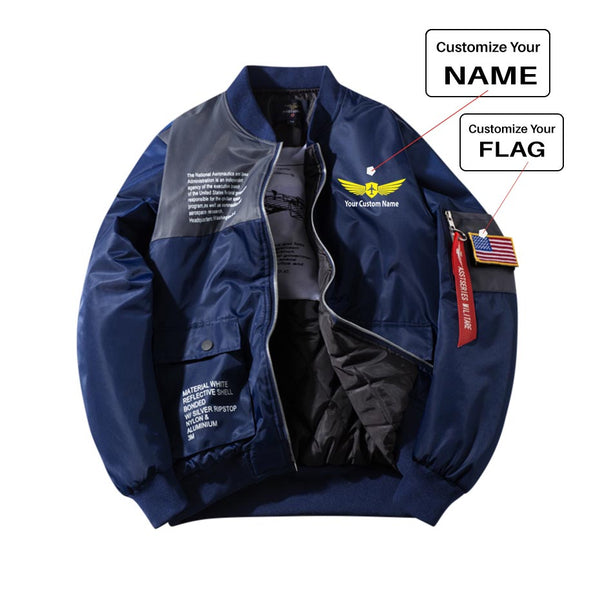 Custom Name (2) Printed Special Jackets (Customizable FLAG)