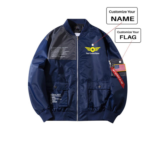Custom Name (4) Printed Special Jackets (Customizable FLAG)