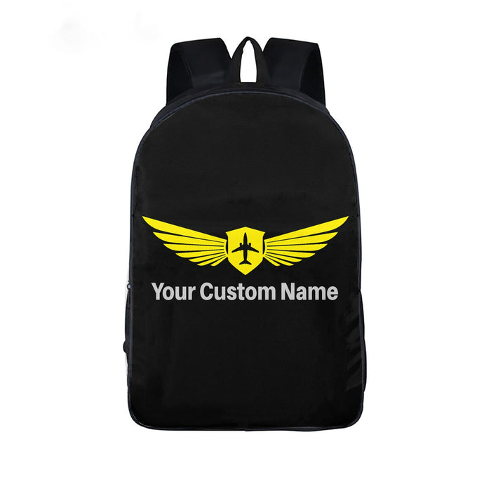 Custom Name & Badge Printed Backpack
